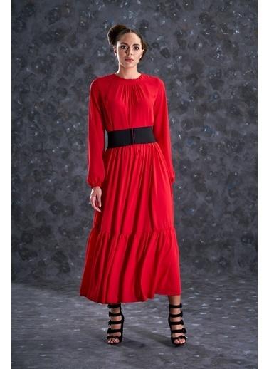 Eda Atalay Bohem Elbise Kırmızı